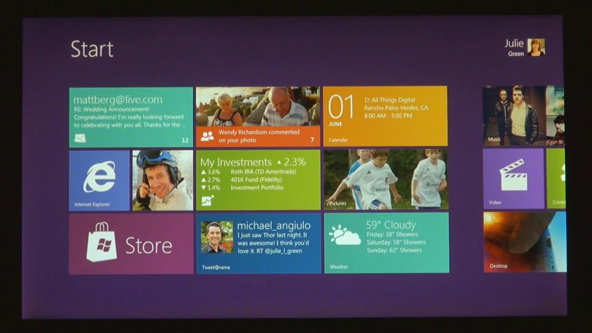 Windows 8 Homesceen
