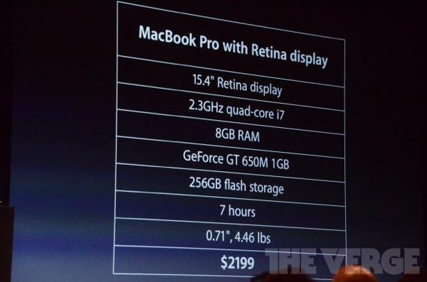 Mac Book Pro Retina: Preise und Ausstattung