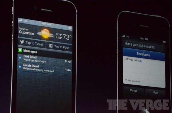 iOS 6: Notification Center: Tweet abschicken und auf Facebook posten